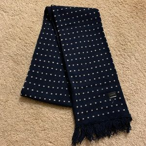 J Crew navy and tan scarf